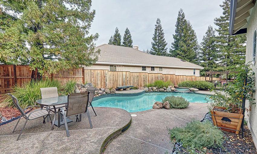 wood pool fence